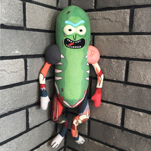 Newest 45cm Rick And Morty Cute Pickles Plush Cucumber Doll Toy Soft Pillow Kids Toys Baby Movies Tv Dolls