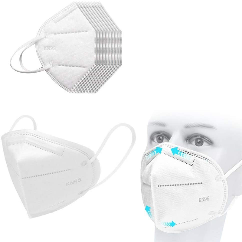 5/10/20pcs KN95 Dustproof Anti-fog And Breathable Face Mouth Masks 95% Filtration Strong Protective KN95 Mouth Masks