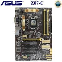 Asus Z87-C Motherboard Intel Z87 LGA 1150 DDR3 32GB PCI-E 3 0 Core i7/i5/i3 Original Desktop asus Z87 Mainboard Verwendet 1150 DDR3