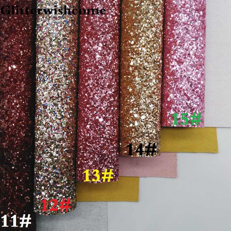 Special Occasion Glossy Vinyl XL Bow Chunky Glitter