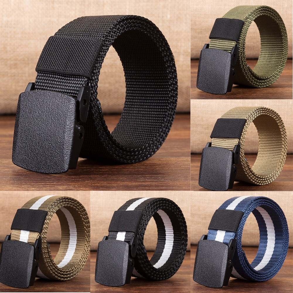 Fashion Men Women Automatic Fashion Nylon   Belt   Buckle Military Fans Tactical Canvas   Belt   Ceinture