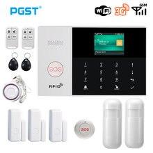 3G WIFI GPRS Cartão SIM SMS RFID APP Controle Remoto Top Sem Fio da Segurança Home Sistema de Alarme de Incêndio em Casa Com sistema de Alarme por voz