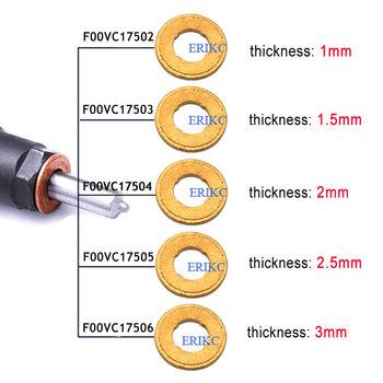 ERIKC miedziana podkladka F00VC17503 klip podkładka F00VC17504 dysza miedziana podkładka F00VC17505 F00VC17502 uszczelka do wspólnego wtryskiwacz szynowy tanie i dobre opinie steel ERIKC007 for bosch injector copper ring injector Copper shims Copper washers 25g pc 27g pc High-speed Steel CE ISO9001