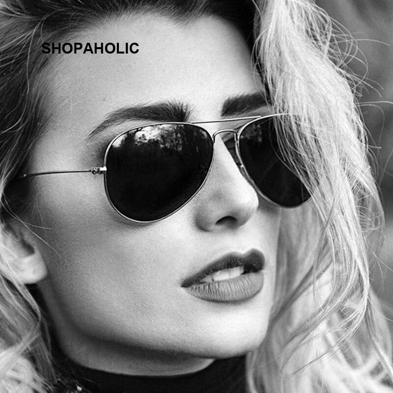الموضة الفاخرة الطيران النظارات الشمسية النساء العلامة التجارية مصمم نظارات شمسية للنساء سيدة مكبرة الإناث راي Oculos دي سول