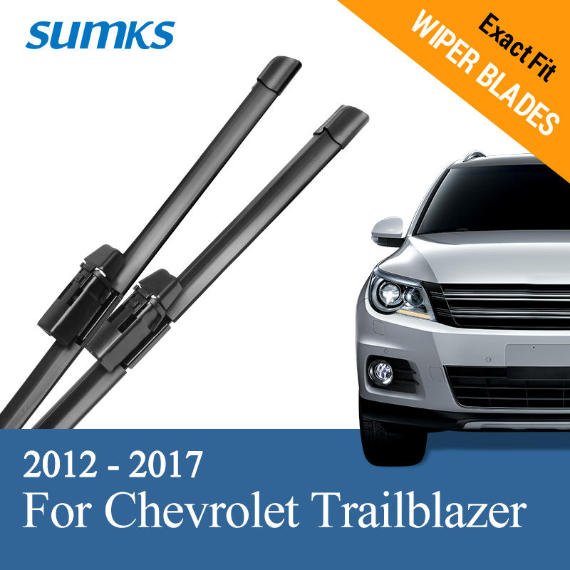 "SUMKS Limpiaparabrisas para Chevrolet Trailblazer 22 ""y 18"" Fit Top Lock Arms 2012 2013 2014 2015 2016 2017"