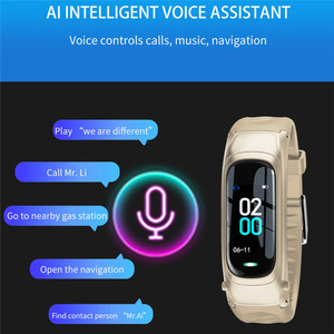 Image 3 - B9 Smart Call Bracelet Bluetooth Earphone Wristband Heart Rate Monitor Fitness Tracker Headset Smart Band Talk For IOS Android