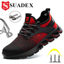 Toe-Boots Work-Shoes Composite-Toe Lightweight SUADEX Steel Breathable Indestructible