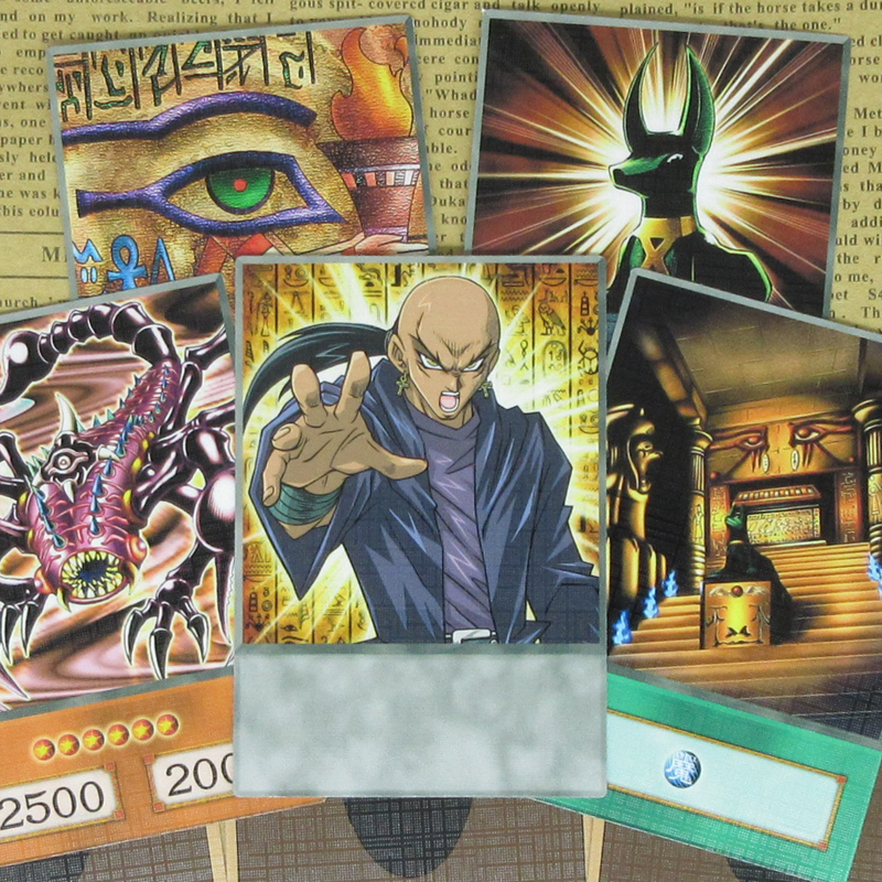 8pcs/set Yugioh Odion Classic Cards Mystical Beast Of Serket Temple Of The Kings Anubis Egyptian Themed Trap Rishid Anime Orica