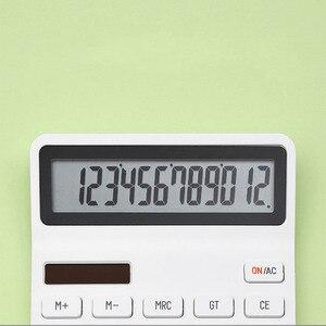 Image 4 - Youpin KACO LEMO pulpit kalkulator fotoelektryczny podwójny Dive 12 numer wyświetlacz inteligentne wyłączanie dla szkolnego biura
