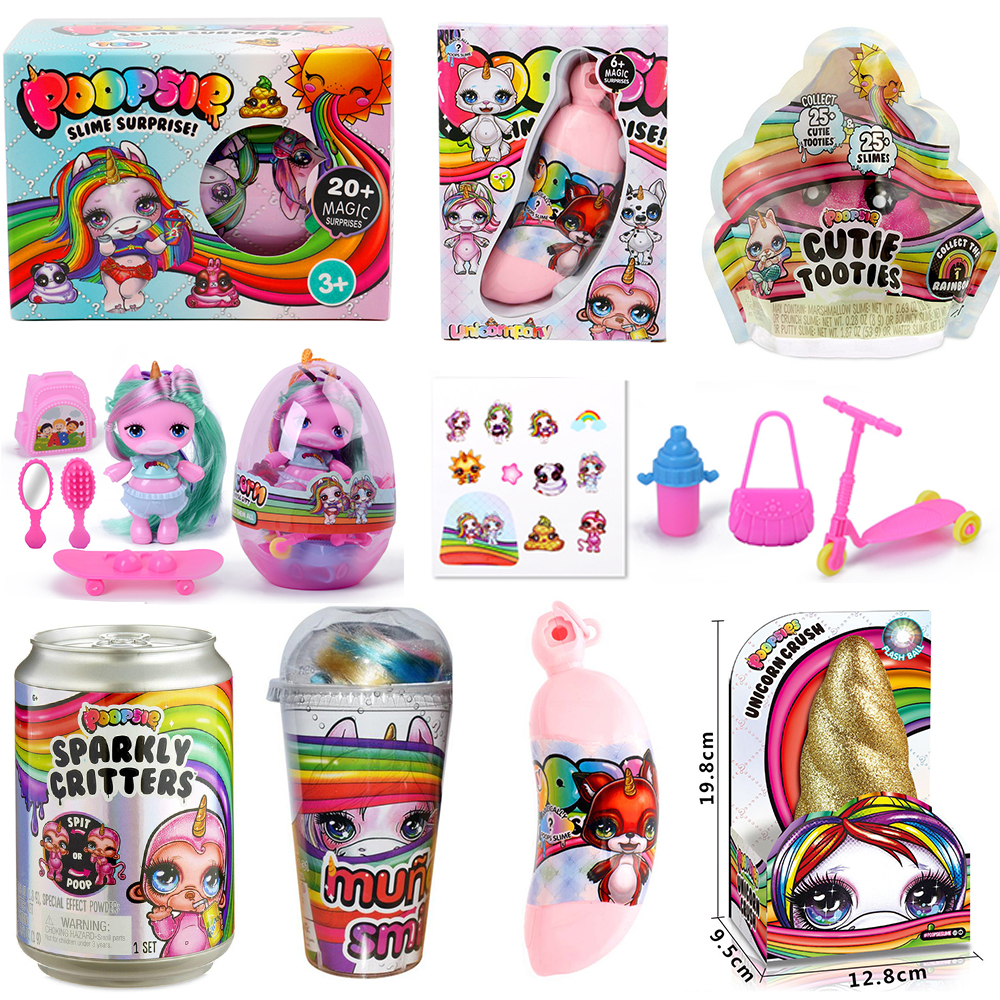 Ecompression Toy Squeezing Music Unicorn Jar Sparkle Splitter Poopsie Slime Unicorne Dolls Soft Relief Stress Squishies Squeeze
