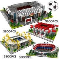 LOZ Mini Blocks Famous Architecture Football Soccer Field Soccer Camp Nou Signal Lduna Park Model Building Blocks Toys for Kids
