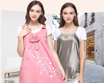 Double Layer Radiation Protection Maternity Suit Dress Printing Invisible Zipper Anti-radiation Apron Clothes Christmas GiftZL68 p phillips radiation