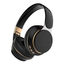 Auriculares inalámbricos con Bluetooth, plegables, ajustables, para tarjeta TF, AUX, Cable de reproducción de música, con micrófono, para Smartphone y PC