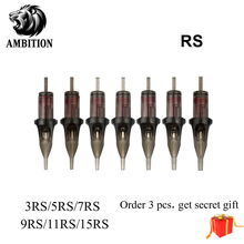 Ambition Original Professional Disposable Tattoo Cartridge Needle Round Shader 10Pcs 3RS/5RS/7RS/9RS/11RS/14RS