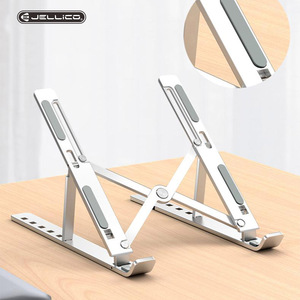 Jellico Laptop Stand for MacBook Air Pro Notebook Foldable Aluminium Alloy Bracket Laptop Holder For Macbook Pro Air iPad Pro PC(China)