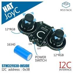 M5stack oficial joyc rocker módulo projetado para o m5stickc stm32f030f4 controle chip jogo lidar com dispositivo sem fio i2c joystick