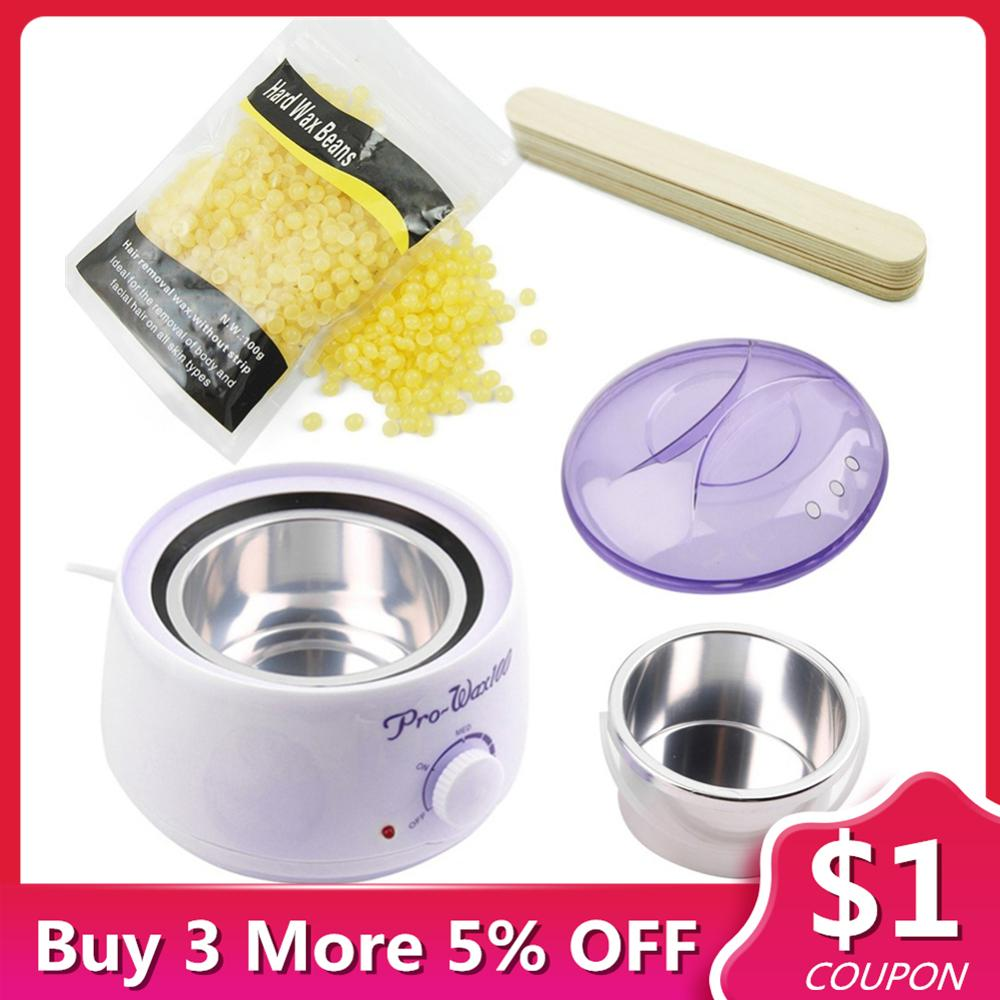 Beans-Wax Wax-Warmer Hair-Remover Facial-Wax-Set Depiladora Pearl for 1set title=