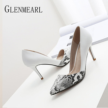 Women Pumps Shoes High Heels Snake Patte
