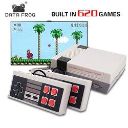 Datos Rana Mini consola de juegos TV soporte HDMI/AV 8 Bit Retro consola de videojuegos incorporado 600/620 juegos de mano reproductor de juegos