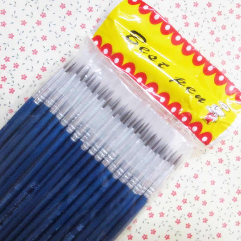 10 ชิ้น/เซ็ตFine HAND-Painted Thin Hook Lineปากกาสีฟ้าBatonภาพวาดปากกาแปรงอุปกรณ์ศิลปะไนลอนแปรงพิเศษ