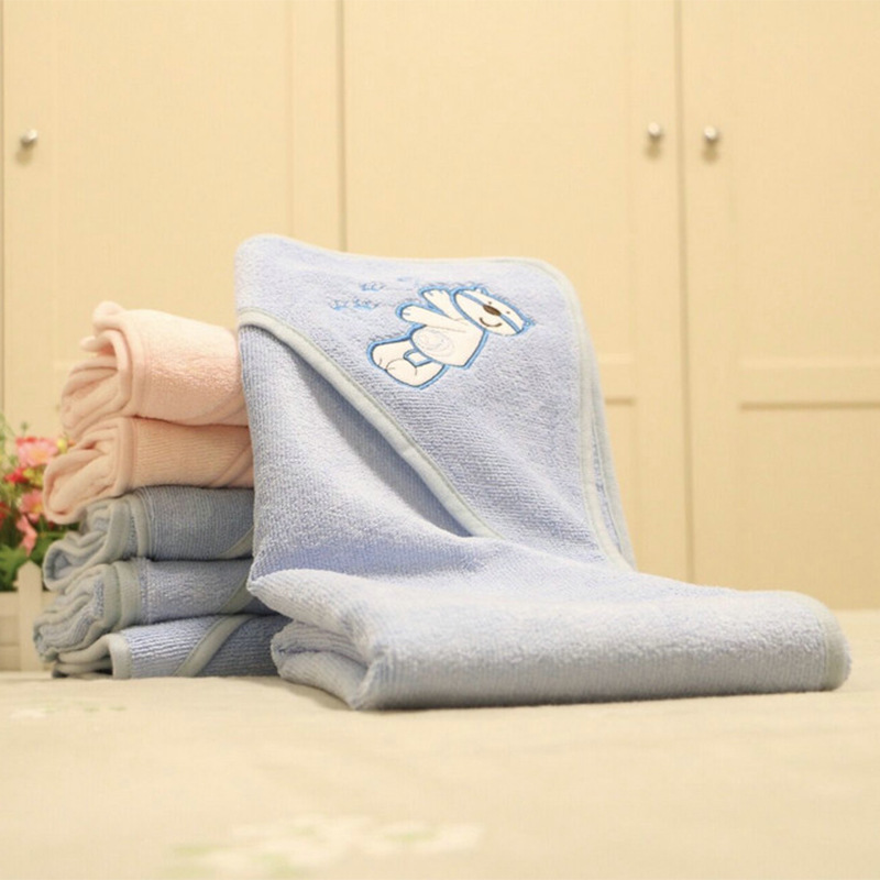 BABY'S Bath Towel Breathable Fiber Newborns Wrapping Blanket Autumn And Winter Baby Cuddle Hooded Thick Bath Towel