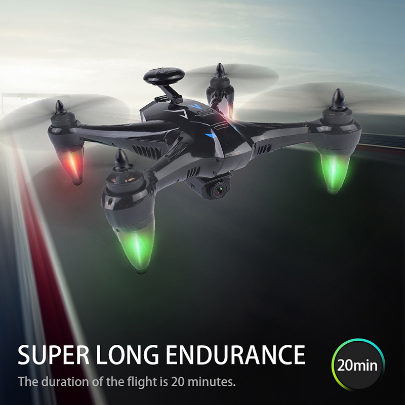 lowest price New Drone K20 GPS With 4K HD Dual Camera Brushless Motor WIFI FPV Drone Smart Professional Foldable Quadcopter 1800M RC Distance