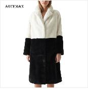 Autumn Winter Coat Women 2019 Fashion Vintage Slim Double Breasted Jackets Female Elegant Long Warm White Coat casaco feminino 87