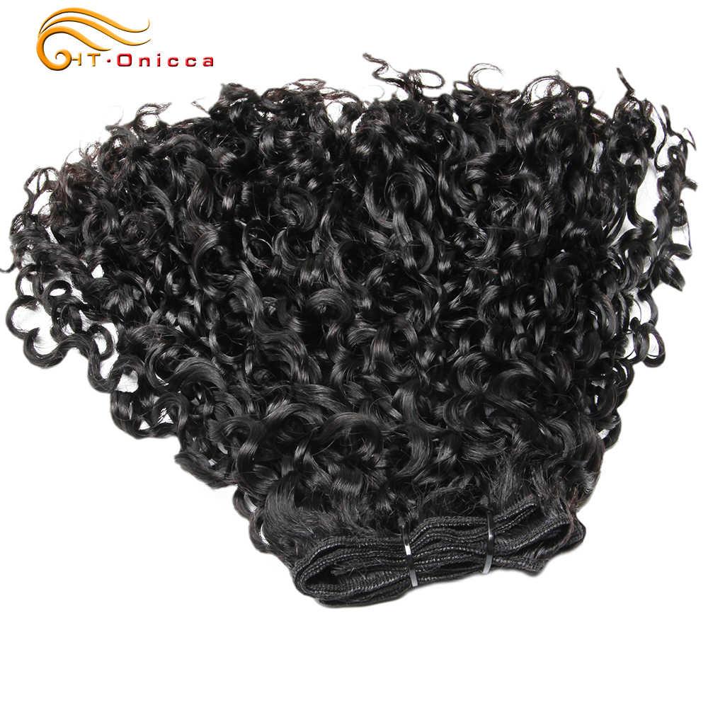 Brasilianische Haar Bundles Menschliches Haar Extensions Flexi Pissy Locken Pixie Lockige 6 Bundles Doppel Gezogen Menschliches Haar Für Schwarze Frauen