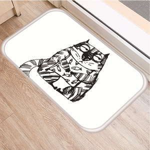 Image 5 - Cute Cat Pattern Non slip Bedroom Decoration Soft Carpet Kitchen Floor Living Room Floor Mat Bathroom Non slip Door Mat 40x60cm.