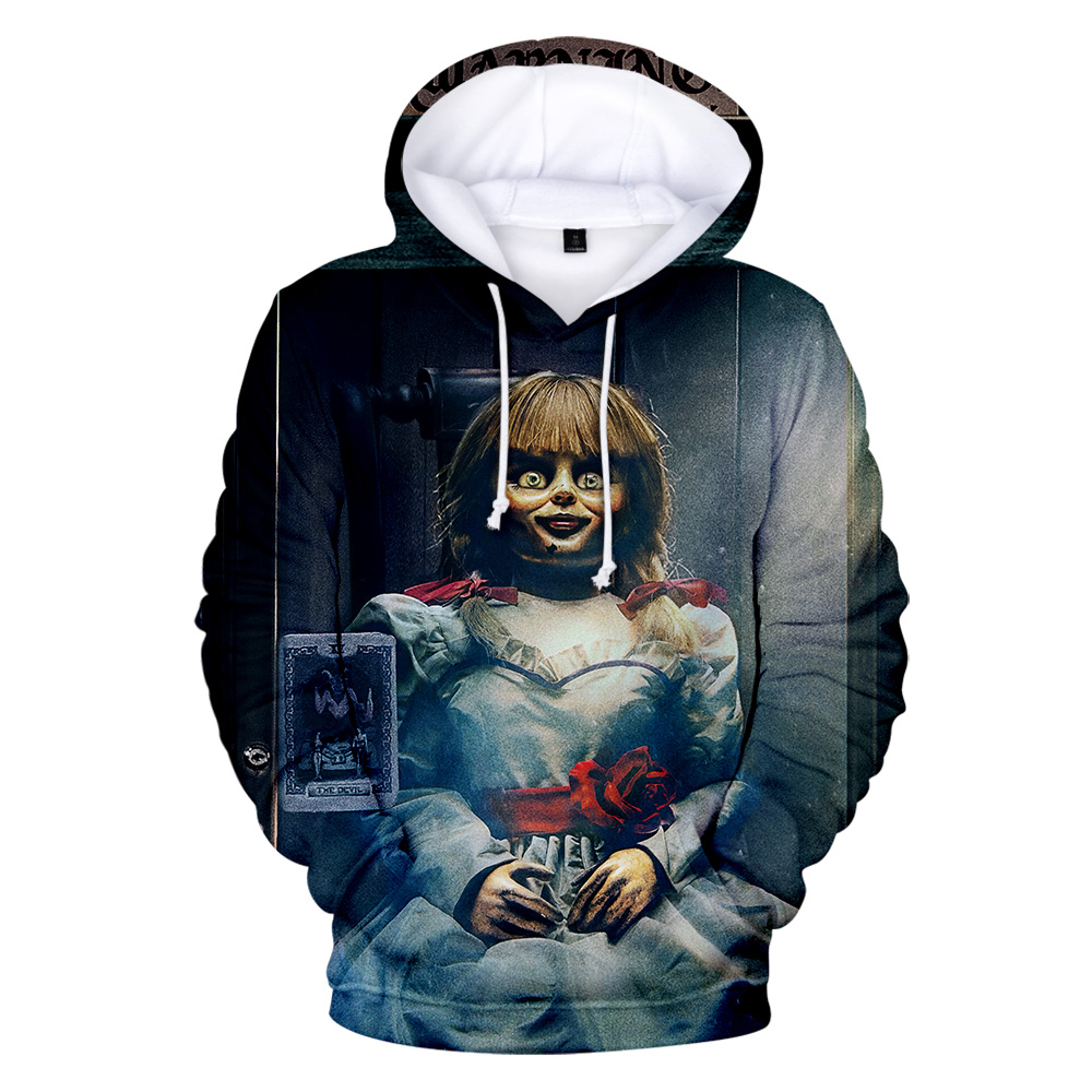 Hot 3D Printed Annabelle Hoodies Fashion Men/women High Quality Hooded Sweatshirt Terror New Funny Clothing Casual Winter Full