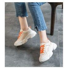 2020 Hotsale Flache Frauen Mädchen Orange Turnschuhe Schuhe
