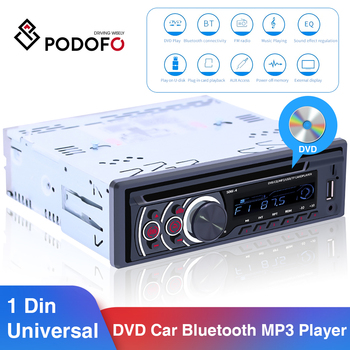 Podofo 8169A Universal 1 Din Bluetooth Car Stereo MP3 Player 1din Autoradio CD VCD DVD AUX USB FM Radio Auto Audio Car Player image