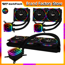 Darkflash Dt Waterkoeling Pc Computer Cpu 120Mm Rgb Fan 12V Water Cooler Geïntegreerde Waterkoeling Radiator 2011/Am3 +/AM4 Amd