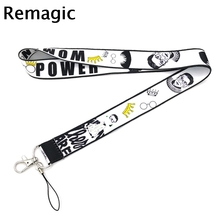 Feminist Ruth Bader Ginsburg kids 90s vintage gifts Neck keychain necklace Anime Cartoon Strap Lanyard ID badge holder Keychain