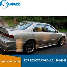 for Toyota Corolla 1998-2003 Window Visor deflector Rain Guard 1998 1999 2000 2001 2002 2003 SUNZ