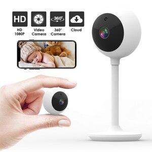 2 Way Talking Baby Monitor, Детская камера видеонаблюдения, камера видеонаблюдения, облачная TF карта, для хранения, 360 градусов вращения, детский монито...