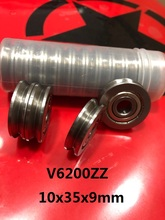 20pcs/lot V6200ZZ V6200 ZZ 6200VV 10x35x9 mm V groove ball bearing guide track roller wheel pulley bearing 10*35*9 15pcs lot 6200zz 6200 zz 10x30x9mm mini ball bearing miniature bearing deep groove ball bearing brand new