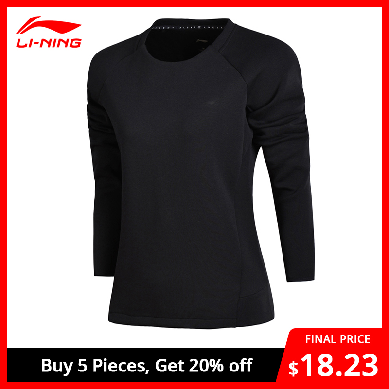 Li-Ning Women Essentials Knit Top Training Sweaters Fitness Comfort Regular Fit Li Ning LiNing Sports Sweaters AWDN056 WWW959