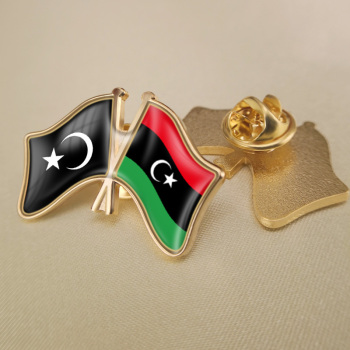 Cyrenaica and Libya Tripoli Amazighs Fezzan Friendship Flags Lapel Pins image