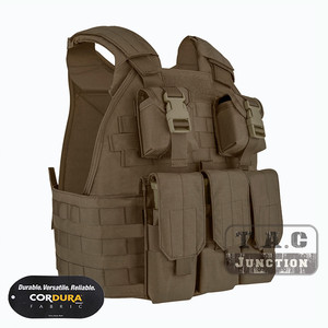 Image 2 - Emerson Tactical Compact Vest SPC Style High Speed Plate Carrier Adjustable Vest w/ Triple For M4 M16 Magazine Mag Pouch