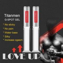 TITANMEN Gel g spot per olio lubrificante per sesso anale Gay olio più forte ogmo Libido Climax Enhancer popper Rush Sex drop giocattoli per coppia