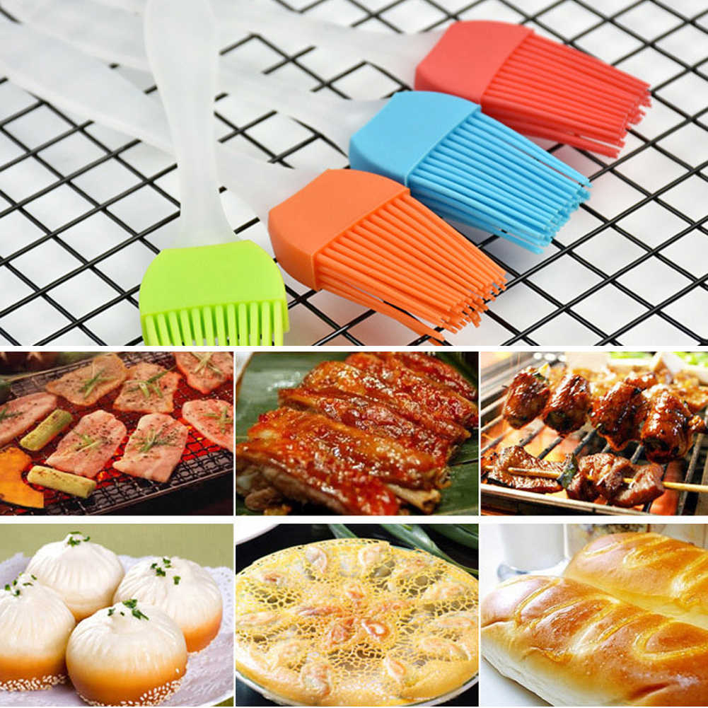 Silicone BBQ Cake Pastry Brush Tools Eco-friendly Kitchen Barbecue Bread Oil brush Cream Pizza Cooking Bakeware Cookware