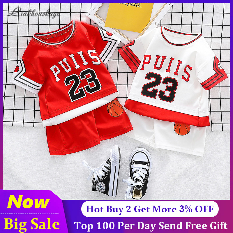 12-13 Years Jordan 23 Logo Boys Cotton Tee-Shirt White Large