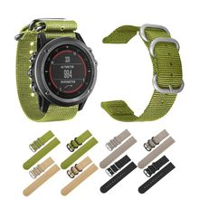 26MM Durable Nylon Woven Watch Band Wrist Strap Replacement for Garmin Fenix 5X/5X Plus/3/3 HR Smart Accessories