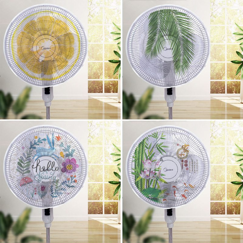 Electric Fan Dust Cover Mesh Fan Safety Protector Net Cover Round Stand Fan Finger Guard Dustproof Storage Bag Home Decor