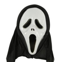 Ghost Festival whole person Halloween Mask horror devil scream skeleton ghost face props God of death cover witch face