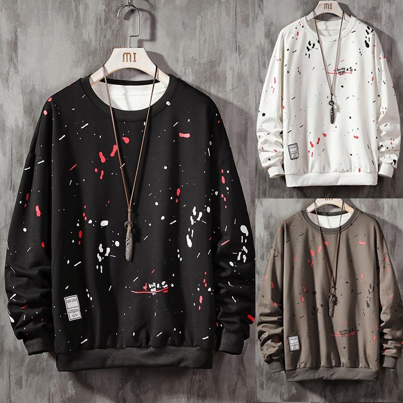 Hand-Painted Sweatshirts Men/Women Hoodies Art Painted Sweatshirt Winter Loose Tops