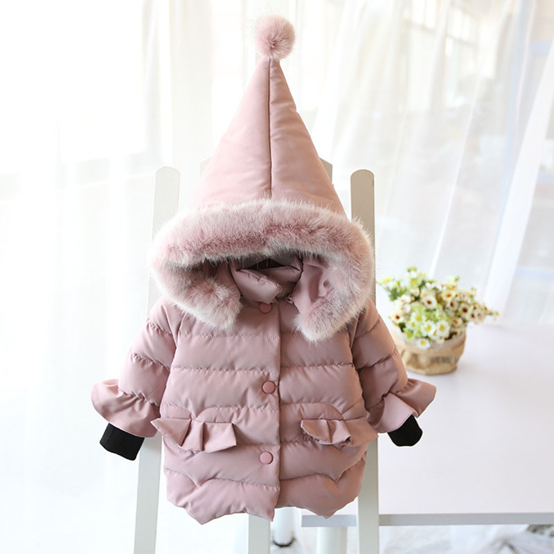 Baby 2019 Autumn Winter Down Jacket For Girls Kids Girl Cute Hooded Jacket Warm Cotton Padded Outerwear Coat Girl Clothes 1-6Yrs spring outfits for kids