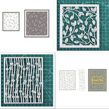 DiyArts New Background Metal Cutting Dies Foliage Frame Stencil Scrapbooking Photo Album Card Paper Embossing Craft DIY