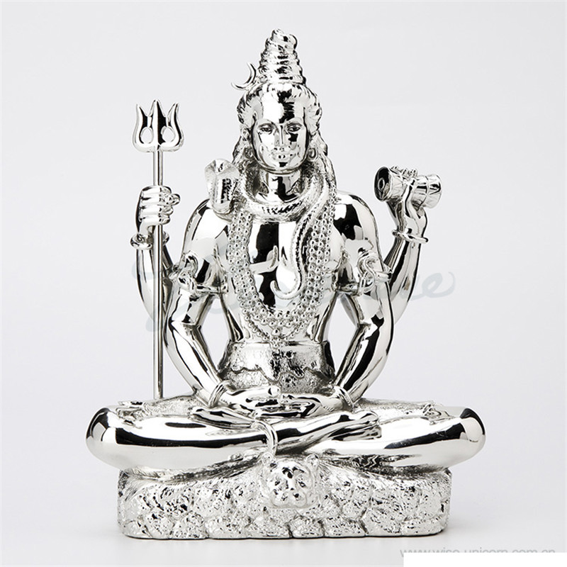 Plating India Siva Buddha Figurine Shiva God Statue Creative Resin Crafts Home Decoration Birthday Gift R3721
